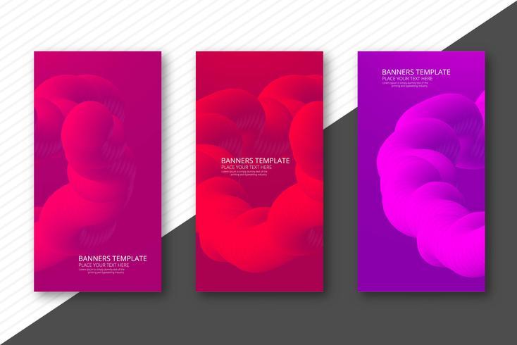 Vecteur de fond abstrait bannière fluide coloré