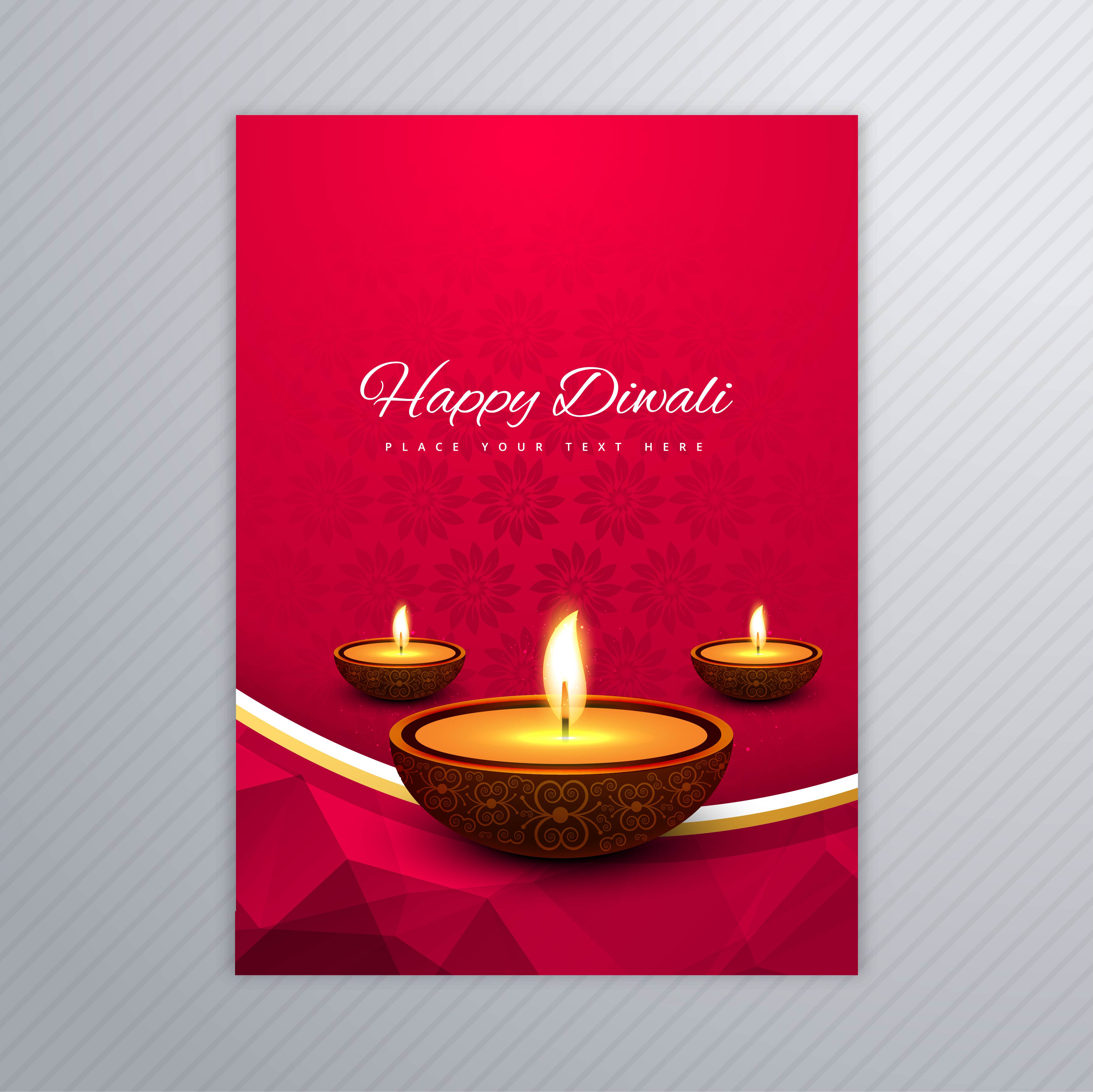 decorative diwali greeting card template design 258185
