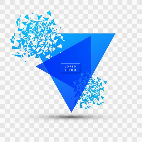 Explosion and fragmentation blue square illustration vector