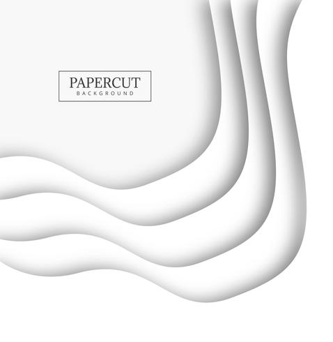 Diseño moderno de la forma creativa del papercut.