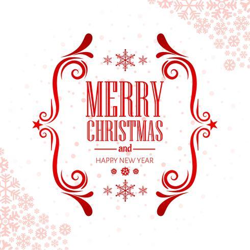 Vecteur de fond décoratif joyeux Noël cartes de voeux