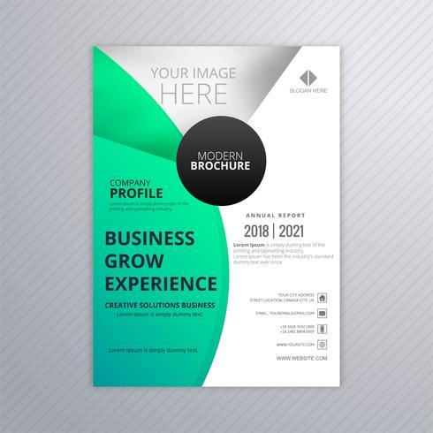 Abstrakt affärsmall broschyr mall färgrik design vektor