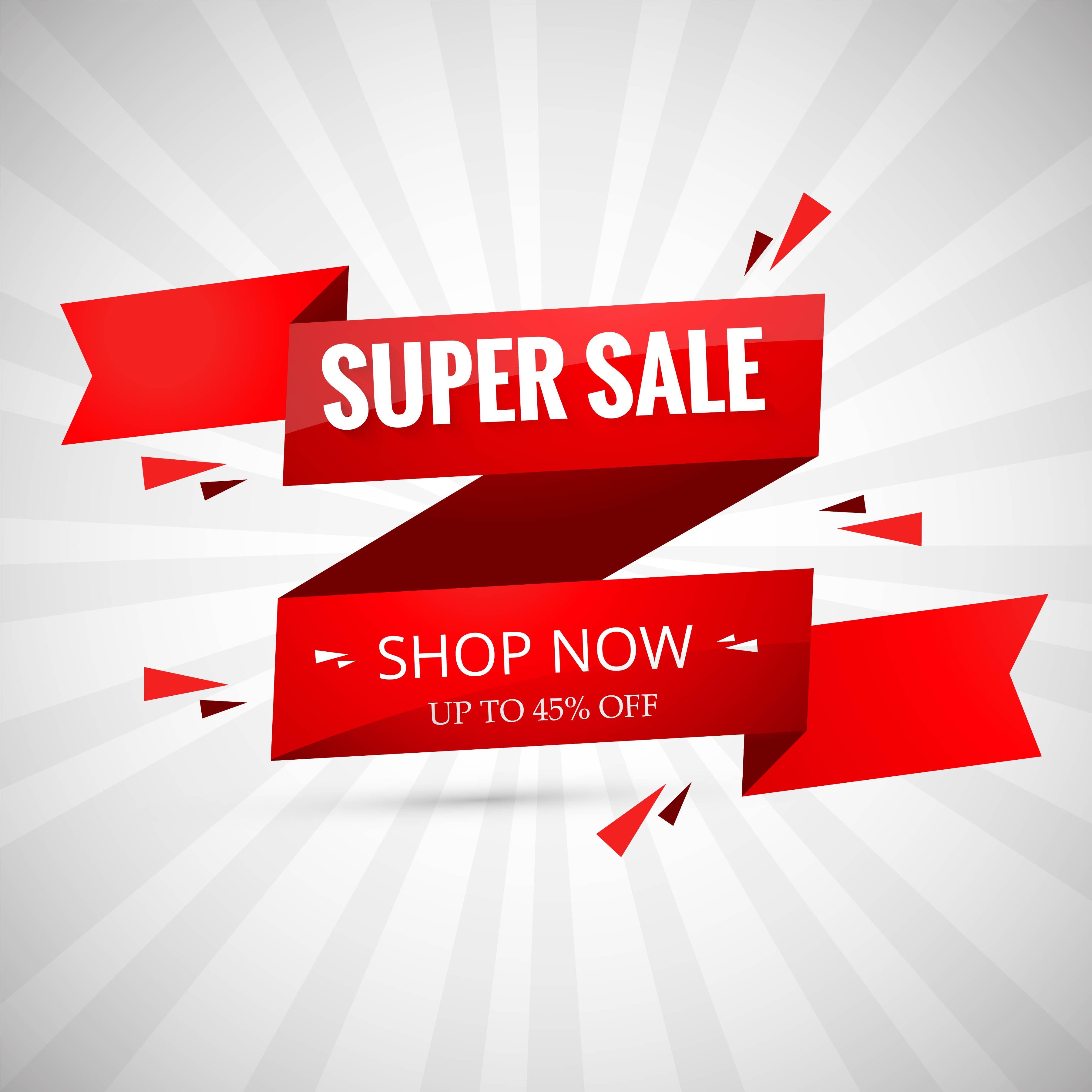 Free Comic Book Day Banner: Super Sale Banner Design. Vector Illustration