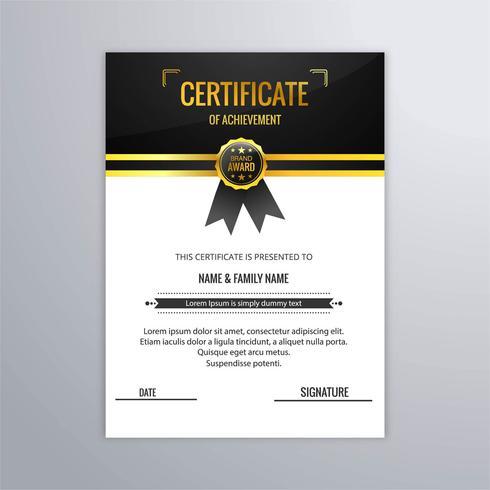 Bello vettore astratto di progettazione del modello del certificato