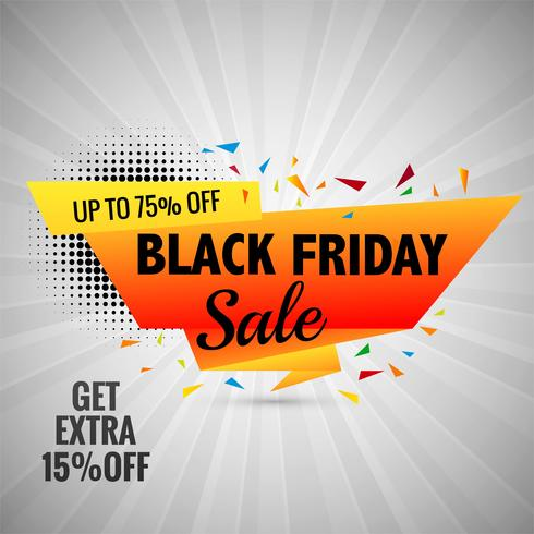 Vector de diseño de diseño de banner de venta de viernes negro
