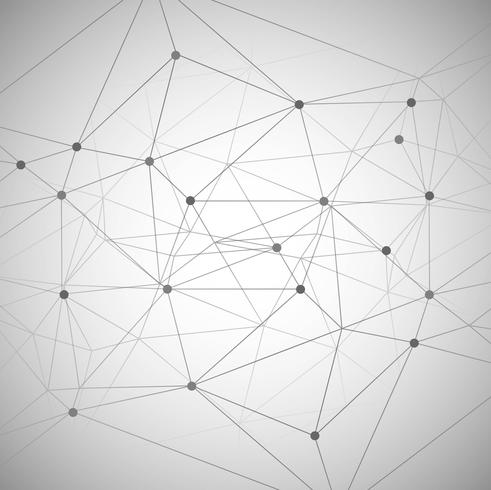 Abstrakta polygonala linjer på en vit bakgrund illustration vect