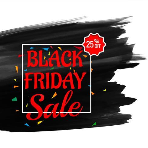 Cartel de venta de viernes negro con texto rojo en grunge pincelada ba