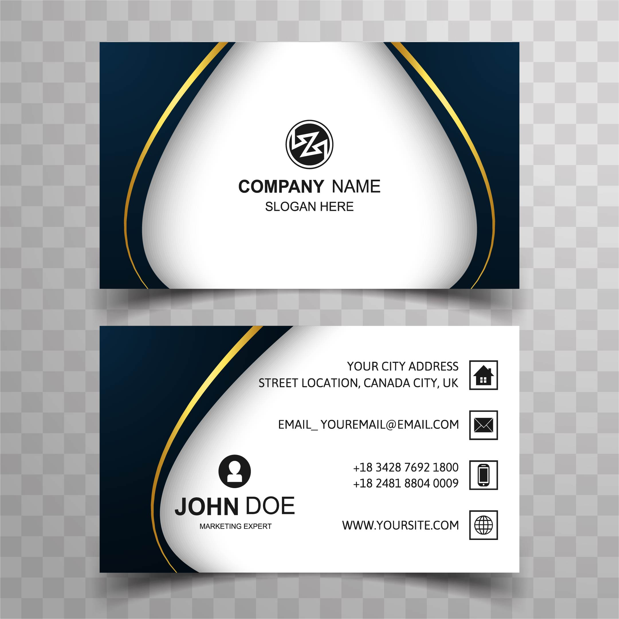 Abstract Stylish Wave Colorful Business Card Template