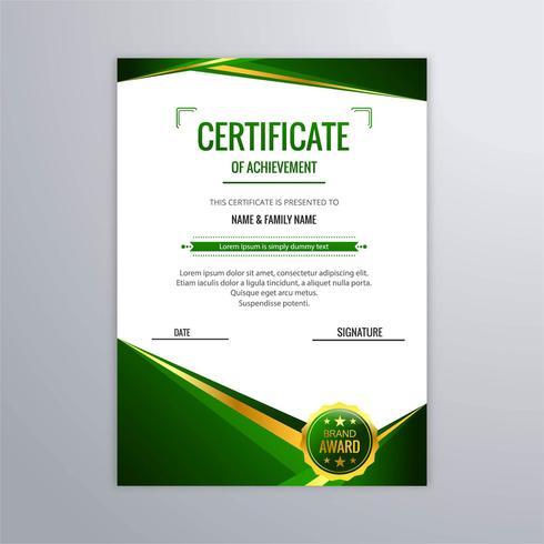 Abstrakter schöner Zertifikatschablonen-Designvektor vektor