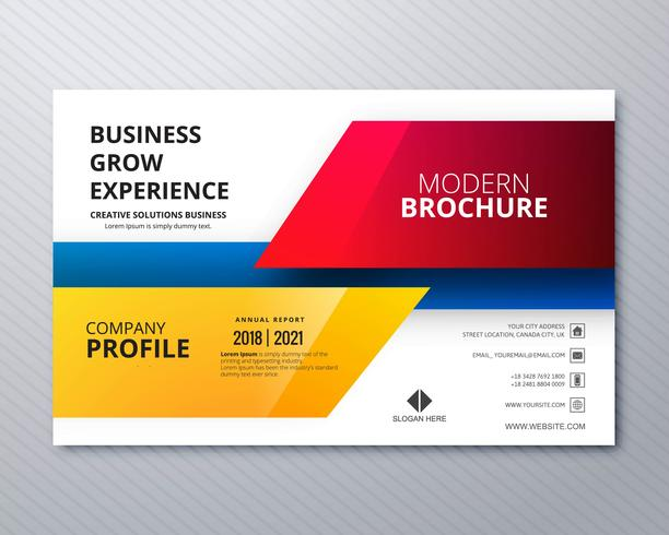 business flyer template professional design download free vector