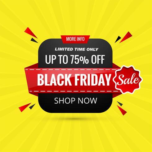 Vector de plantilla de fondo de banner de ventas de viernes negro