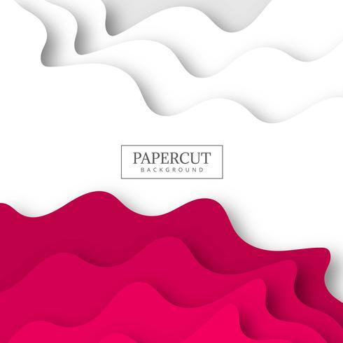 Papercut moderno onda forma creativa fondo ilustración vect