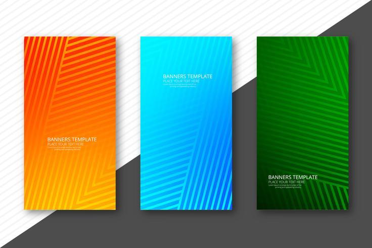 Abstracte kleurrijke geometrische banners geplaatst vector