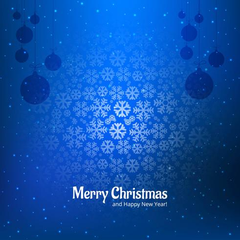 Christmas snowflakes decorative blue background