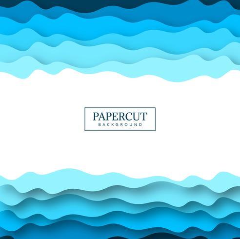 Abstrakt papperskärning blå färgrik vektor design