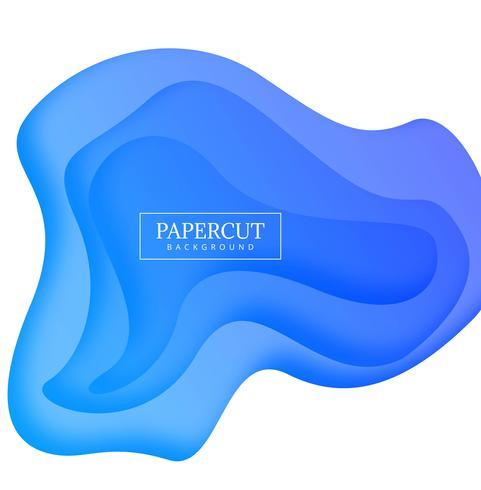 Abstracte papercut blauwe kleurrijk met golfvector als achtergrond