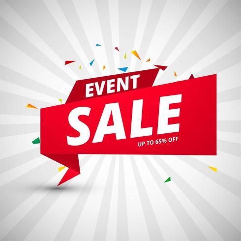 Modello di design colorato banner di vendita di eventi vettore