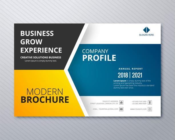 Ejemplo creativo v de la plantilla de la tarjeta abstracta del folleto del negocio