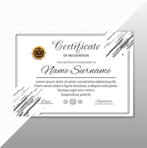 Fond géométrique de modèle de certificat moderne vecteur