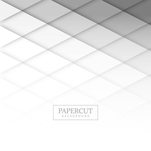 Vecteur de fond papercut gris moderne