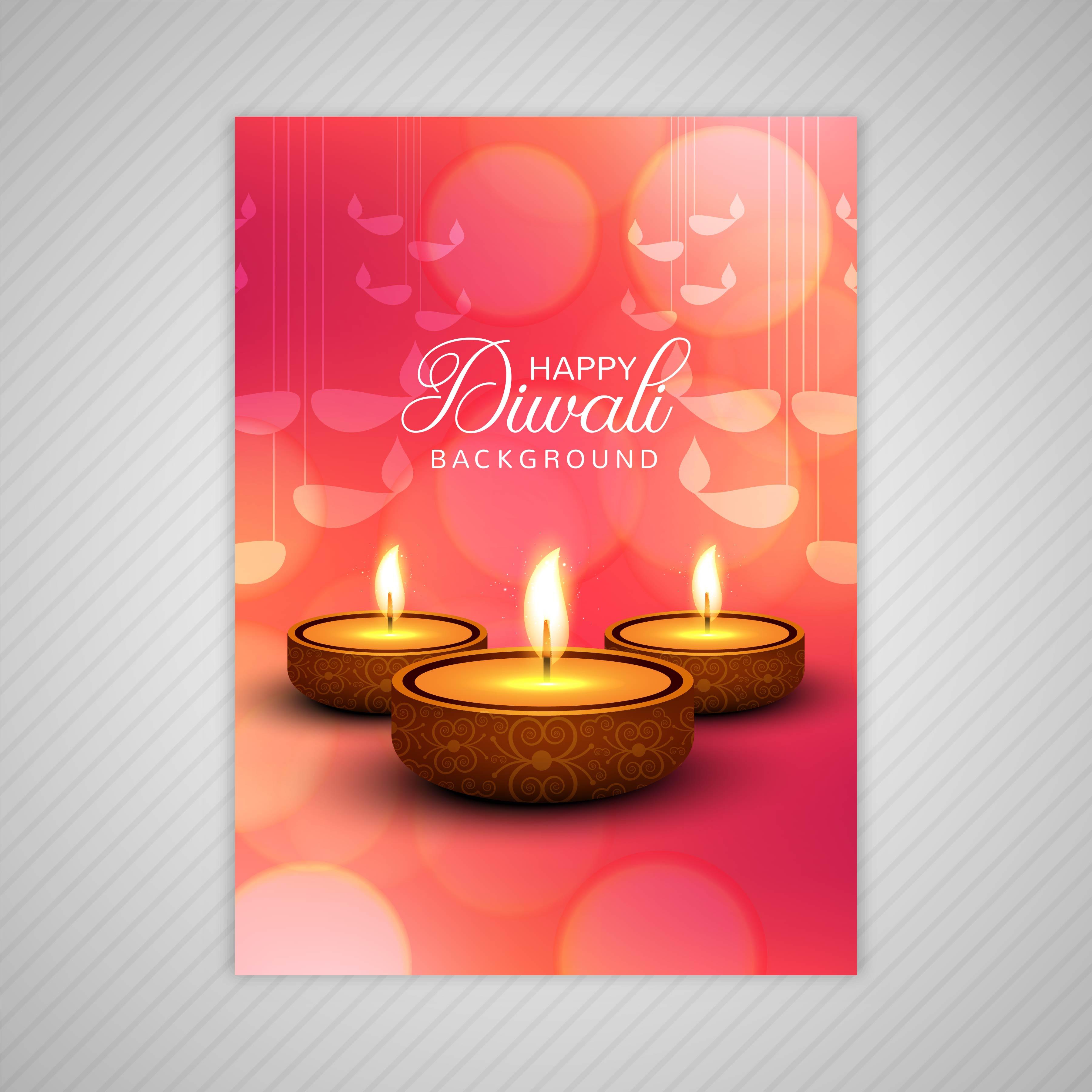 decorative diwali greeting card template design 258458