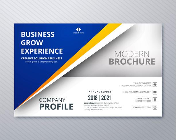 Abstract business brochure card template illustration vector