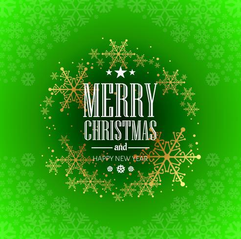 Diseño hermoso de la tarjeta de felicitación de la Feliz Navidad