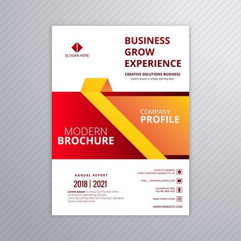 Business professional brochure colorful template creative design vector