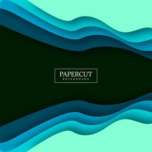 Papercut élégant design coloré vague colorée