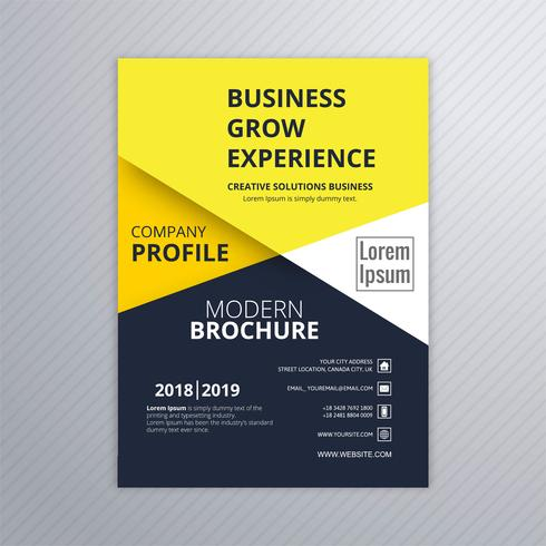 Modern business brochure colorful template vector