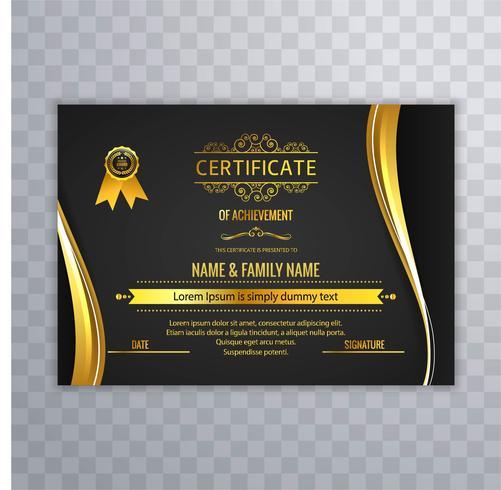 Beautiful Creative Certificate Template Design Vector Download