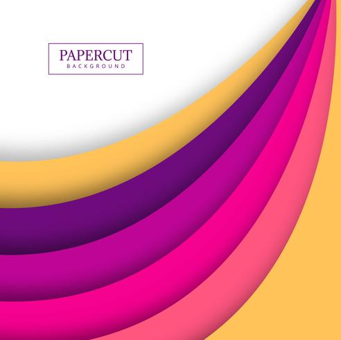 Papercut illustration colorée vague colorée design