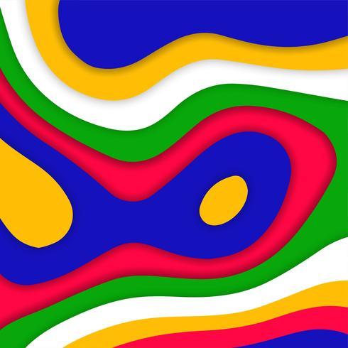 Abstrakt färgrik pappersklippning modern bakgrund