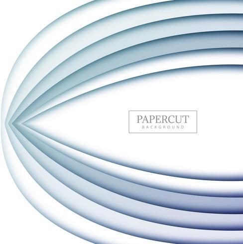 Diseño moderno de la forma del papercut con estilo
