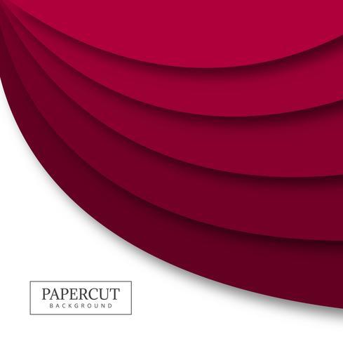 Vector van het de golf kleurrijke ontwerp van Papercut de kleurrijke