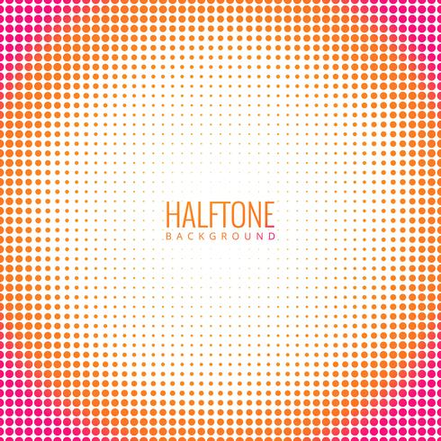 Abstract circular colorful halftone background