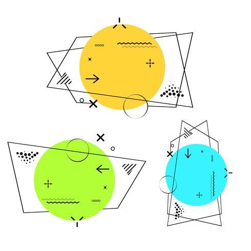Ligne géométrique moderne Memphis Colorful Design Background Vector