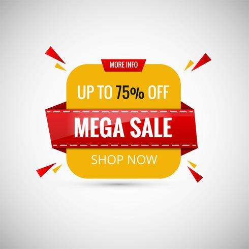 Mega Sale Banner Design. Vektor illustration