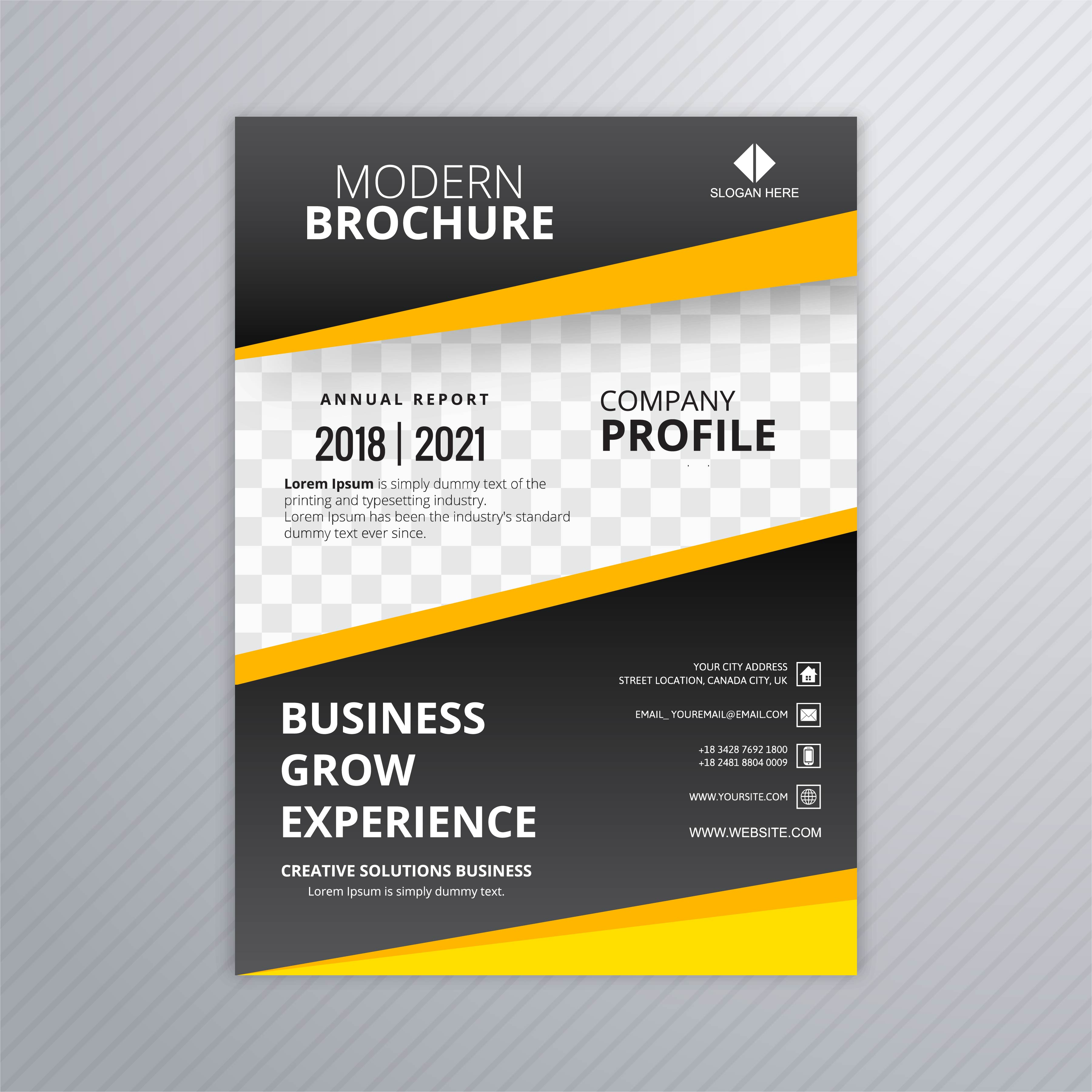 Professional Designers: Modern Business Brochure Template Professional Design