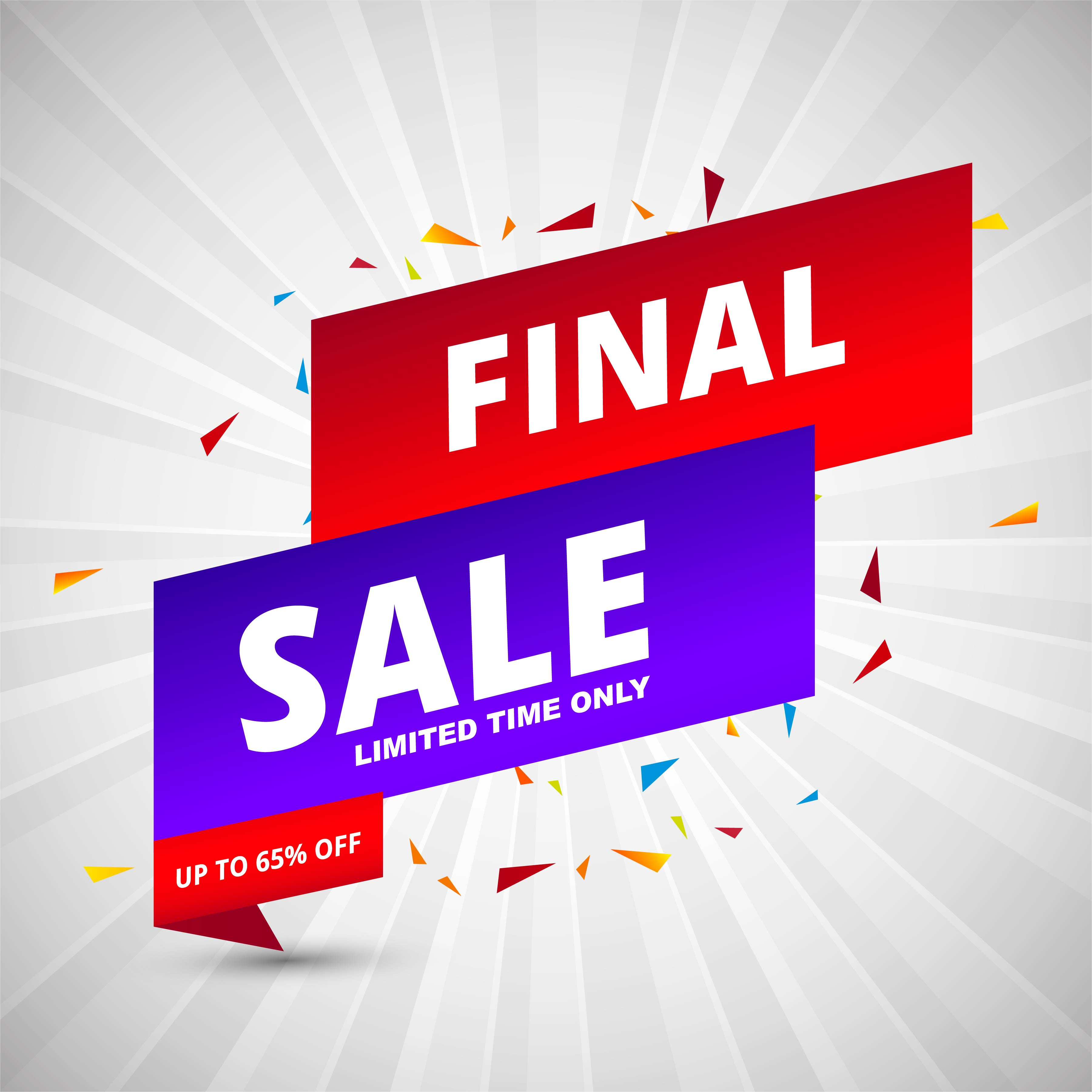 Free Comic Book Day Banner: Final Sale Banners Colorful Template Vector