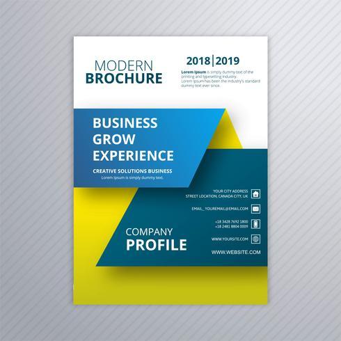 Colorful modern business brochure template vector design