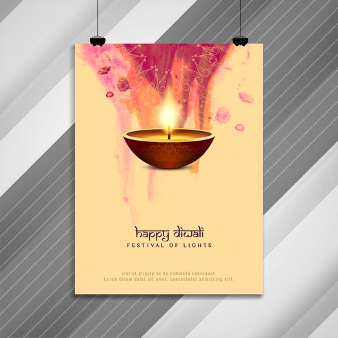 Abstract Gelukkig Diwali godsdienstig brochureontwerp