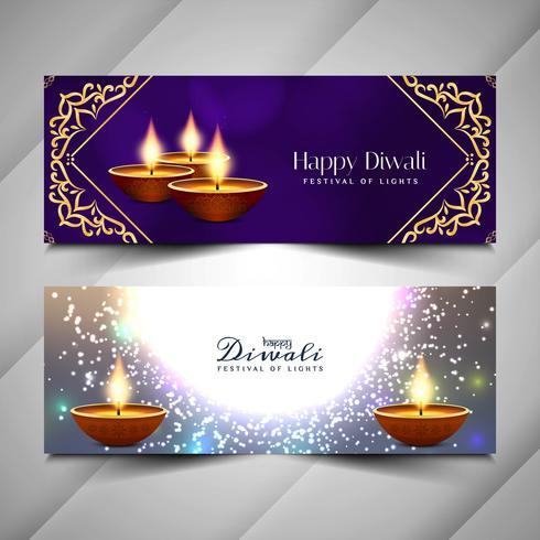 Abstrakt Glad Diwali religiös banners design