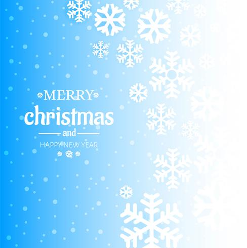 Winter blue background with snowflake design vector