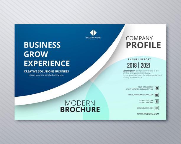 Business design professionnel brochure modèle coloré