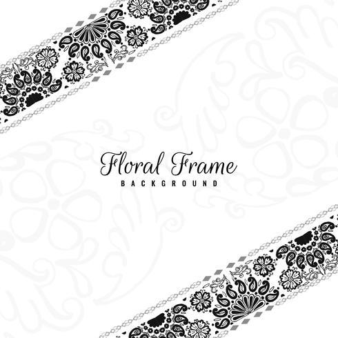 Fond décoratif abstrait cadre floral