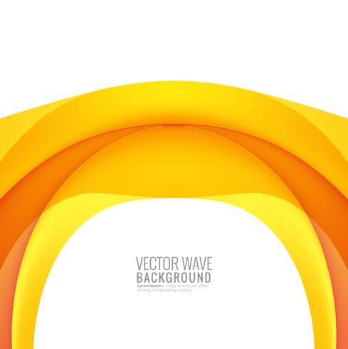 Abstrakt gul färgrik kreativ våg på vit bakgrund