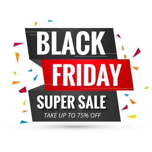 Vacker svart fredag försäljning affisch banner design