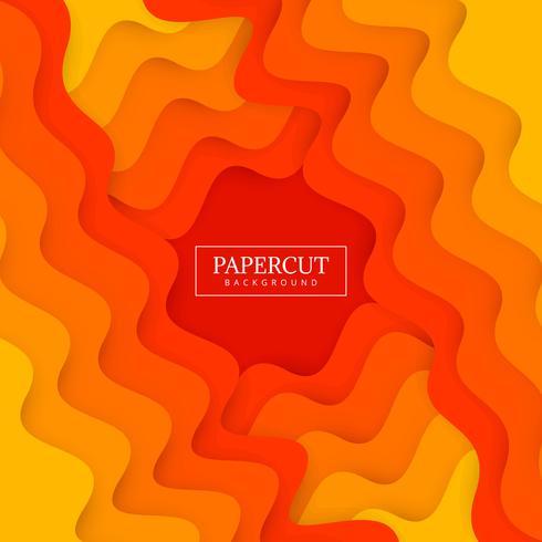 Vacker Papercut stilig våg färgrik design vektor