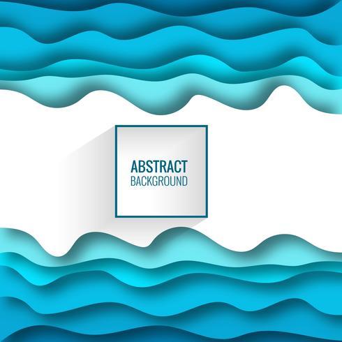 Sfondo blu con forme di taglio della carta. Illustrazione vettoriale